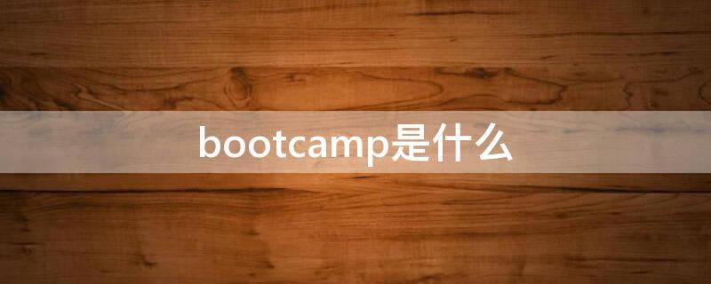 bootcamp是什么